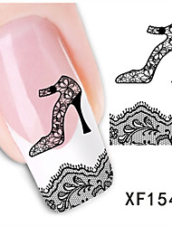 1pcs  Lace Heels Water Transfer Nail Sticker