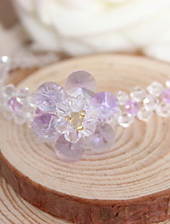 Strand Bracelets 1pc,Transparent Bracelet Fashionable Flower Rhinestone Jewellery