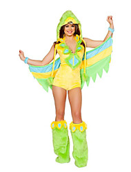 Women's Green Birds Animal Costume