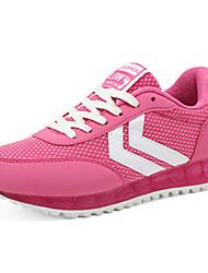 laufende Schuhe der Frauen Tüll Frühjahr / Sommer Komfort beiläufige flache Ferse rot / grau Fuß Turnschuhe