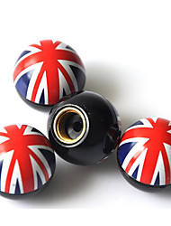 Flag Of The United Kingdom Air Valve Cover / Car Tire Valve Cap / Personality Modification Valve Cover