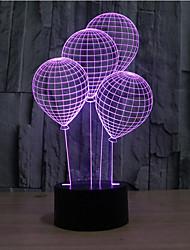 ballon tactile gradation 3d conduit de lumière de nuit lampe atmosphère décoration 7 coloré éclairage nouveauté lumière de Noël