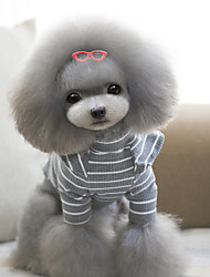 Katzen / Hunde Pullover Rot / Grün / Blau / Purpur / Schwarz / Grau Hundekleidung Winter / Frühling/Herbst Streifen Urlaub
