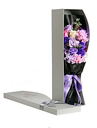 The Valentine'S Day Gift Gift Bouquet Materials Wholesale R Rose Flower Soap Box