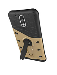 Armor Pattern TPU+PC Shockproof  Back Case with Stand for Motorola Moto G4/ G4 Plus/G4 Play/z/z force