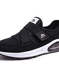 Femme-Décontracté-Rouge / Blanc-Talon Plat-Confort-Sneakers-Polyuréthane