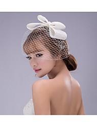 Women's Net Headpiece-Wedding Flowers 1 Piece White Irregular