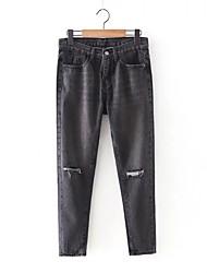 Women's Solid Black Jeans / Harem Pants,Simple