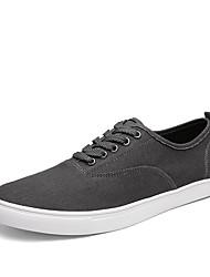 Men's Spring / Summer / Fall / Winter Comfort Denim Outdoor / Athletic / Casual Flat Heel Black / Blue / Gray Sneaker