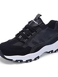Women's Sneakers Spring / Fall Round Toe PU Athletic Flat Heel Others / Lace-up Black / White Sneaker