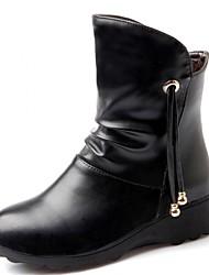 Feminino-Tênis-Saltos / Botas de Cowboy / Botas de Neve / Botas Cano Curto / Arrendondado / Botas Montaria / Botas da Moda / Botas de