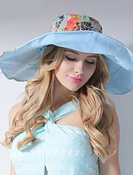 Feminino Chapéu de sol Feminino Casual Verão Algodão
