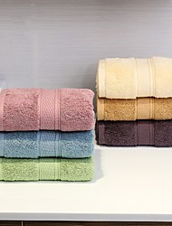 2Pcs Full Cotton Thickening Bath Towel Set Solid Multicolor Strong Water Absorption Capacity Not Dropping Wool