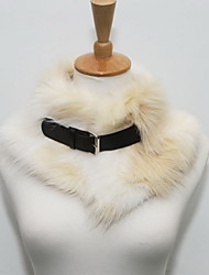 Women Faux Fur Scarf,Casual