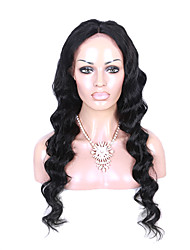 EVAWIGS 16-26 Inch Body Wave Brazilian Remy Hair Natural Wave  Full Lace Wig Natural Black