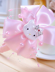 лук ткани повязки корейскими девушки цветка