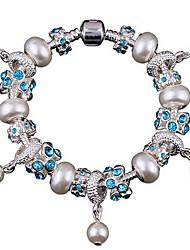 Women Alloy Silver Circle Strand Bracelets
