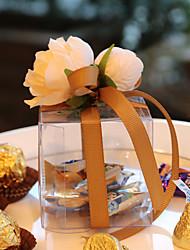 Boîtes à cadeaux(Or / Lilas / Rose / Rouge,Plastique)Thème jardin- pourMariage