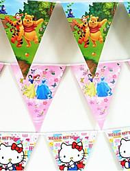 Acessórios do partido Acessório para Fantasia Aniversário Tema rústico Other Não-Personalizado Cartão de Papel Duro Multicolorido