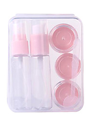 Fenlin ® Cosmetic Bottles Plastic 6 in One Set With Bag Random Color