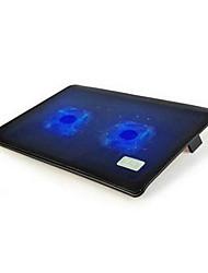 NSN L112 ordinateur portable base de dissipation de la chaleur 14 15,6 pouces ultra-mince double ventilateur de radiateur muet