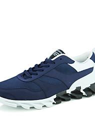 Femme-Décontracté / Sport-Bleu / Noir et rouge / Noir et blanc-Talon Plat-Ballerines-Sneakers-Tulle / Tissu
