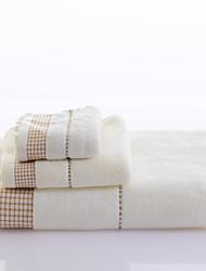 Ensemble de serviette de bain-Fil teint- en100% Coton-Wash Towel Size:26*50cm(10.2*19.7linch) Hand Towel Size:34*76cm(13.4*29.9linch)