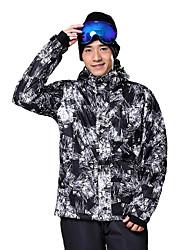 Skikleidung Ski/Snowboard Jacken Herrn Winterkleidung Baumwolle / Polyester Plaid/Karomuster Kleidung für den Winterwarm halten /