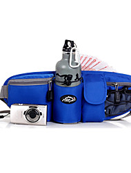 Men Waist Bag Polyester Nylon All Seasons Sports Outdoor Zipper Orange Gray Green Blue Light Blue