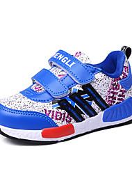 Jungen-Sneaker-Lässig-Kunststoff-Flacher Absatz-Komfort-Schwarz Blau Rot