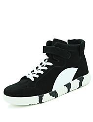 Femme-Décontracté-Noir / Bleu / Gris-Talon Plat-Confort-Sneakers-Tissu