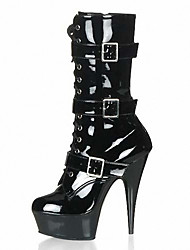 Women's Boots Fall/Winter Heels/Platform/Fashion Boots Patent Leather Wedding /Party & Evening/Dress Stiletto/Sexy boots