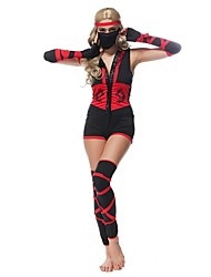 Sexy Ladies Female Ninja Costume Classic Halloween Costumes Black Masked Warriors Ninja Warrior Clothing