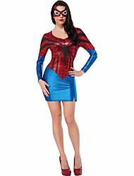 Vrouwelijk-Spider-Man-Groen-Cosplay-Cosplay Kostuums- metKleding / Masker