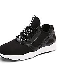 Herren-Sneaker-Outddor-PU-Flacher Absatz-Rundeschuh-Schwarz / Grau