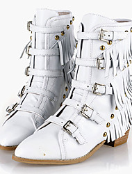 Women's Boots Spring / Fall / Winter Fashion Boots / Combat Boots Leatherette / Casual Chunky HeelBuckle / Zipper