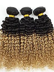 """300g / lot 18 """"prima onda brasileña virginal profunda del pelo humano del pelo color de tono dos teje 1b / 27 del pelo del enrollamiento"""