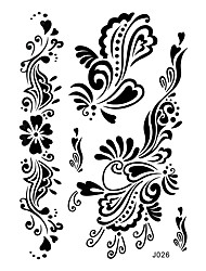 1pc Black Henna Tattoo Flower Woman Lower Back Body Art Temporary Tattoo Sticker Wedding BJ026
