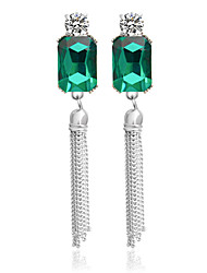 Alloy Drop Earrings Green/White Earrings Wedding 1 pair