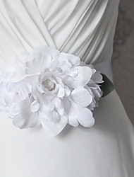 Satin Wedding / Party/ Evening / Dailywear Sash - Floral / Ruffles Women's Sashes