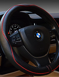 Car Steering Wheel Cover Embossed Leather Luxury Car Sets