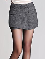 Pantalon Aux femmes Short simple / Mignon Cachemire Micro-élastique