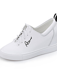 Women's Light Weight High Quality Leather Lace-up Height Increasing Platform Shoes for Walking/Trip
