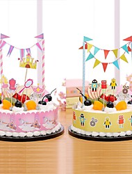 Birthday Party Tableware-1Piece/Set Cake Accessories Petals Hard Card Paper Garden Theme Other
