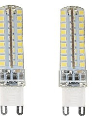 2pcs g9 72smd 2835 6w 450-500lm blanco caliente / fresco blanco / natural blanco dimmable ac110v / 220v llevó luces de maíz