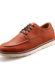 Retro British Style Men's Low-top Casual Leather Flats for Leisure Man's Lace-up Shoes for Office/Party Or in Daily Life