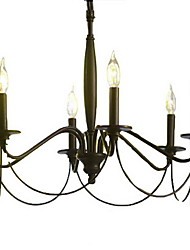 Chandelier ,  Traditional/Classic Electroplated Feature for Candle Style Metal Living Room Bedroom Dining Room Study Room/Office Hallway