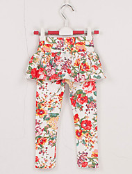 Girl's Cotton Spring/Autumn Fashion Culottes Floral Pantskirt Leggings