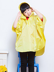 Yellow Raincoat Rainy Plastic Kids / Travel