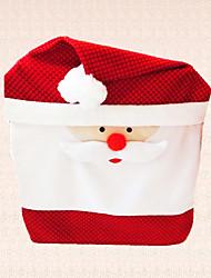 ano novo capa de cadeira natal tampão de Santa Claus decoração do presente para casa jantar 1pc